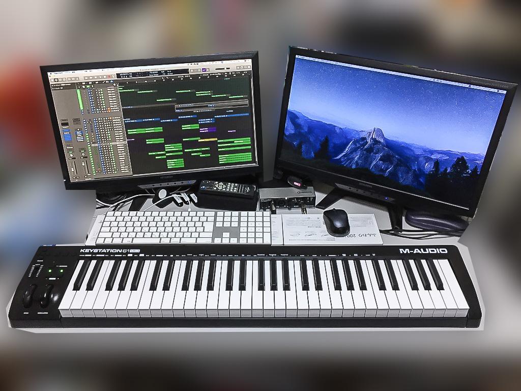 M-Audio Keystation61Mk3を配置